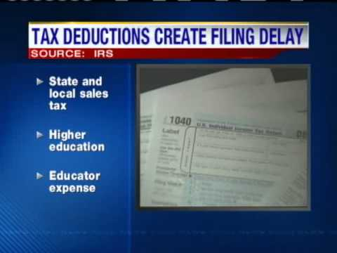 Tax Changes Create Filing Delay