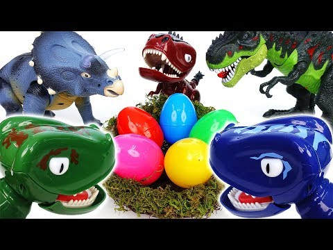 Mean Dinosaurs Steal Eggs From Others~! Hatch'N Heroes Transforming Dinosaur Figures - ToyMart TV