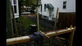 Building A Deck In Time Lapse - Privacy Fence!
