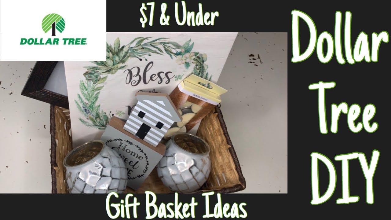 Dollar Tree Diy Gift Basket Ideas Wedding Housewarming 7 Or Less Youtube
