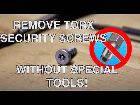 Remove Torx Security Screws Without Special Tools Youtube
