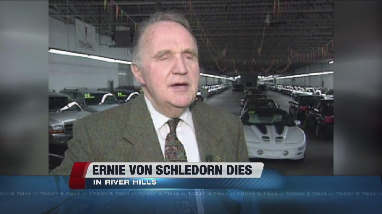 Ernie Von Schledorn >> Iconic Milwaukee Car Salesman Passes Away