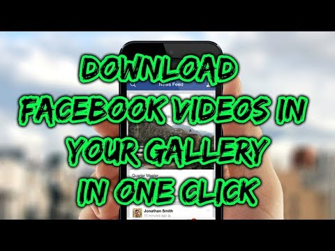 How To Download Facebook Video Directly In Your Phone Gallery | Facebook Tricks