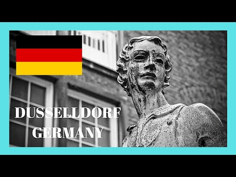 DUSSELDORF, walking around the historic ALTSTADT (the OLD CITY), GERMANY