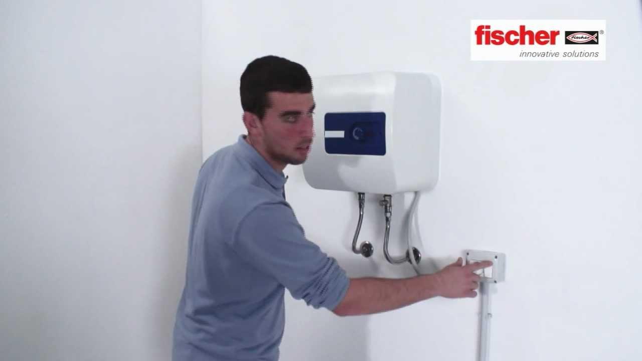 Fischer ready to fix kit di fissaggio per fissare uno scaldabagno youtube - Acqua calda per andare in bagno ...