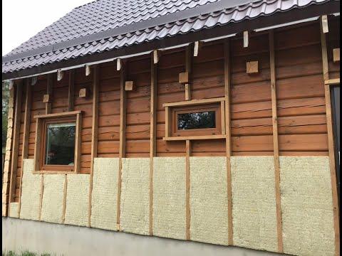 Как утеплить стены деревянного дома снаружи своими руками