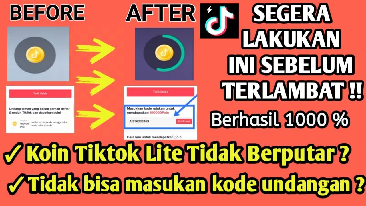 Solusi Tiktok Lite Tidak Bisa Masukan Kode Undangan Dan Koin Tidak Berputar Cara Baru Tiktok Lite Youtube