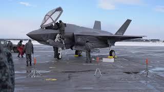 DFN:JASDF First F-35A Arrival Prime Cuts MISAWA AIR BASE, AOMORI, JAPAN 01.26.2018