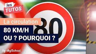 Limitation de vitesse à 80 km/h   tout ce qu'il faut savoir !