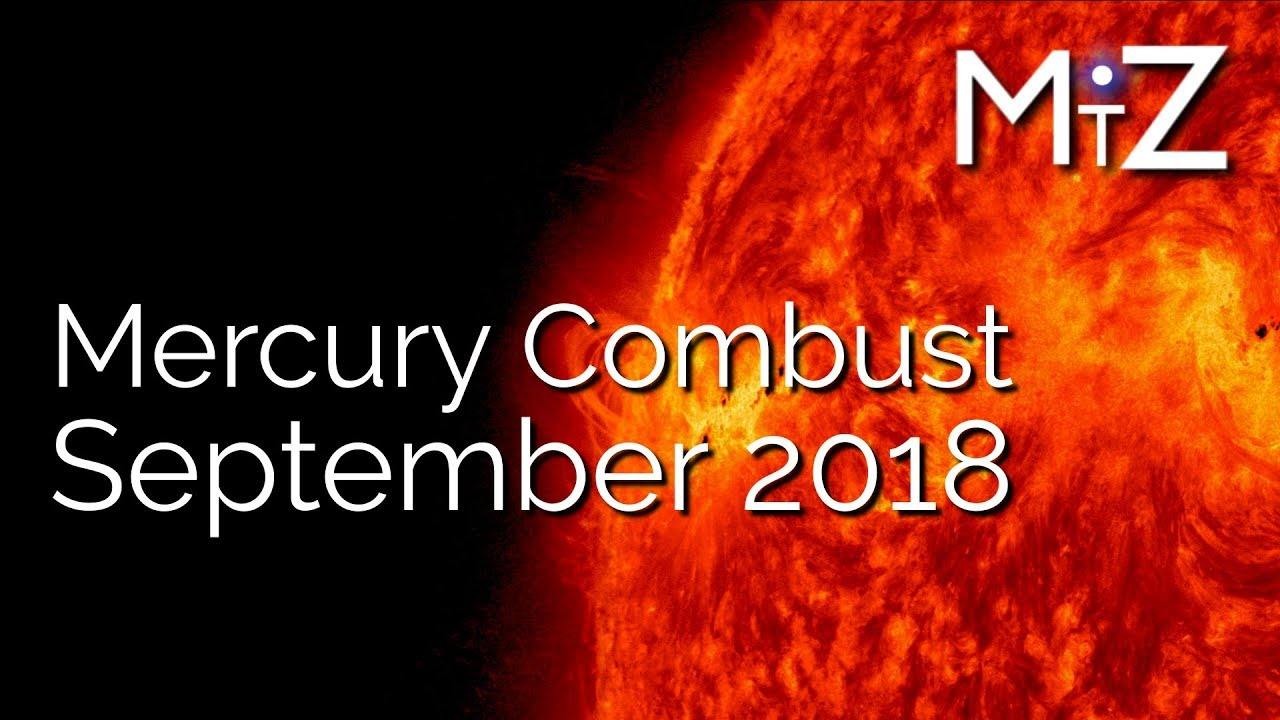 Mercury Conjunct Sun September 20th 2018 - True Sidereal Astrology