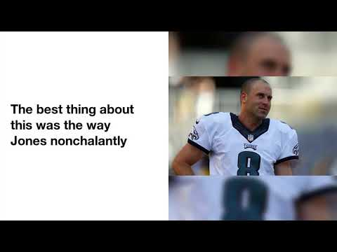 Eagles punter Donnie Jones took off his pants before a punt