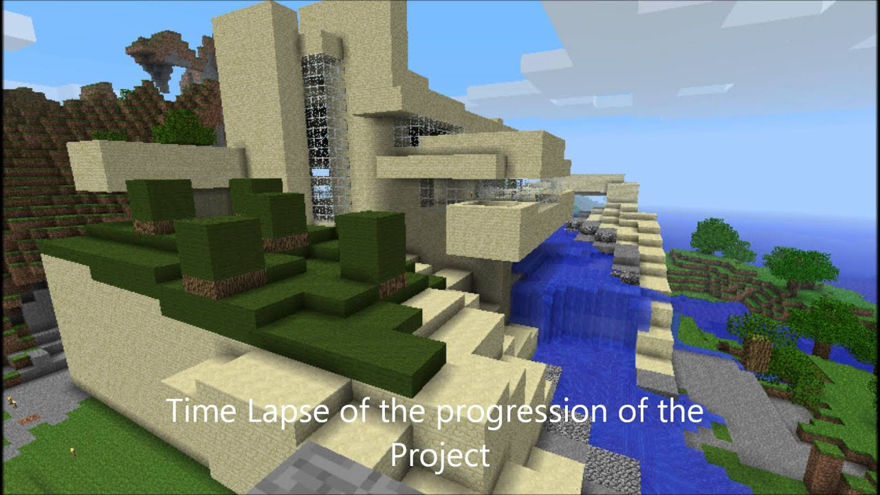 falling water minecraft youtube
