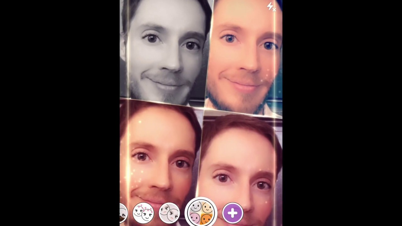 Playing with Snapchat Filters / lenses on April 4th, 2019