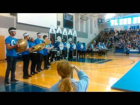 Curtis Viking Drumline Homecoming Assembly 2015