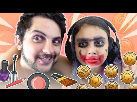 Guerra de maquiagem no cara ou coroa