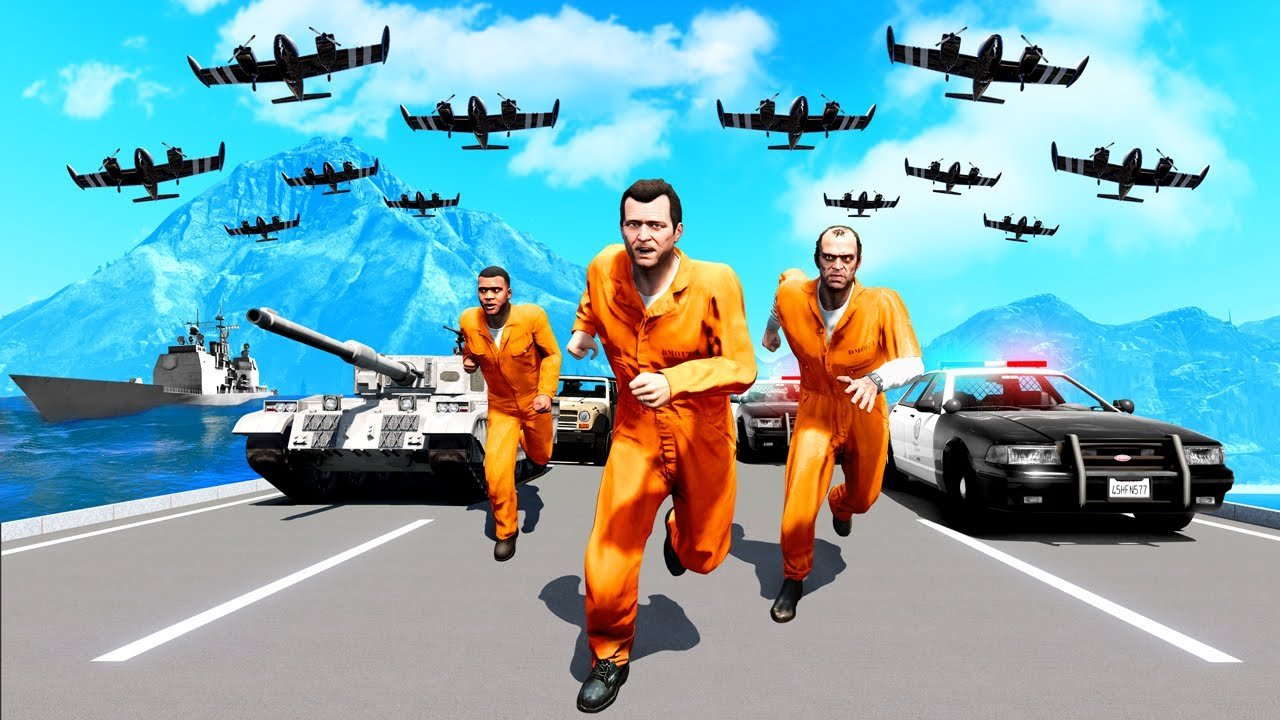 Download GTA 5 - 100,000 STAR WANTED LEVEL! (Can We Escape?)