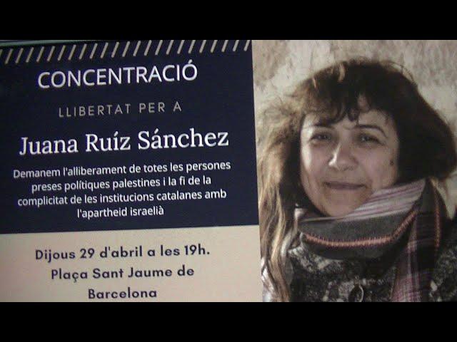 Concentració per la llibertat de Juani Ruíz a Palestina