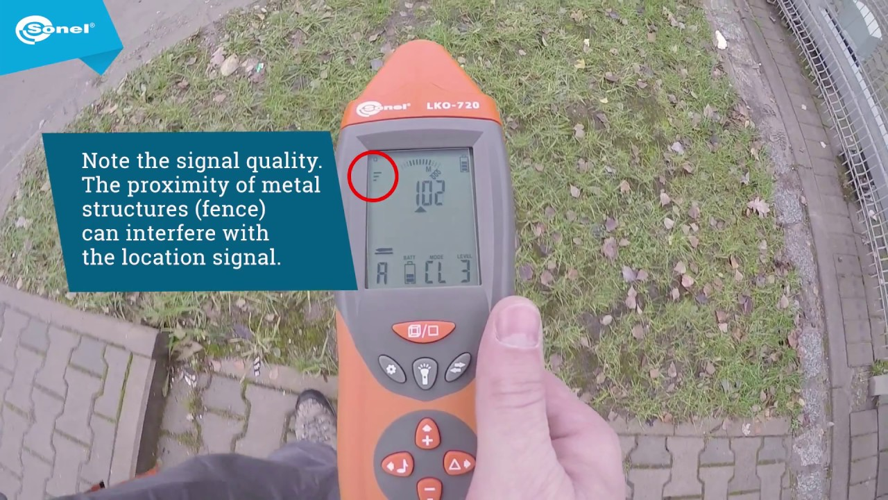 How to trace the cable using Sonel LKZ-720 with transmitting clamp N ...