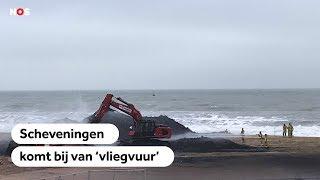 LIVE: Scheveningen herstelt van vonkenregen Nieuwjaar