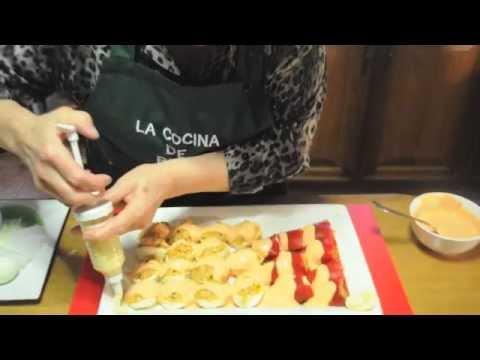 C mo hacer huevos rellenos y pimientos rellenos receta de - Como hacer mermelada de pimientos ...