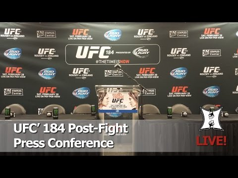 UFC 184: Ronda Rousey vs Cat Zingano Post-Fight Press Conference (LIVE / Complete / Unedited)