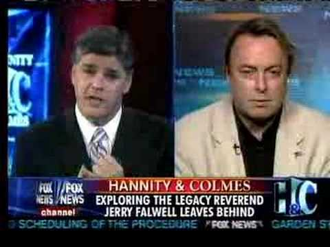 Christopher Hitchens on Hannity & Colmes about Rev. Falwell