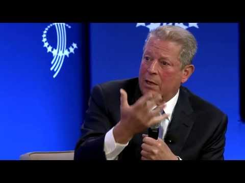 PBS's Charlie Rose speaks with President Bill Clinton and Vice President Al Gore - 2013
