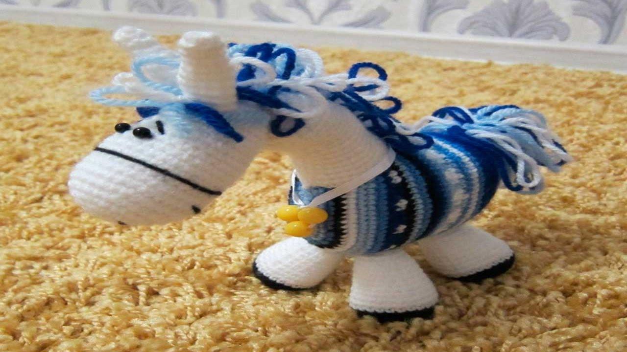 Modelos de caballos tejidos a ganchillo o crochet - YouTube