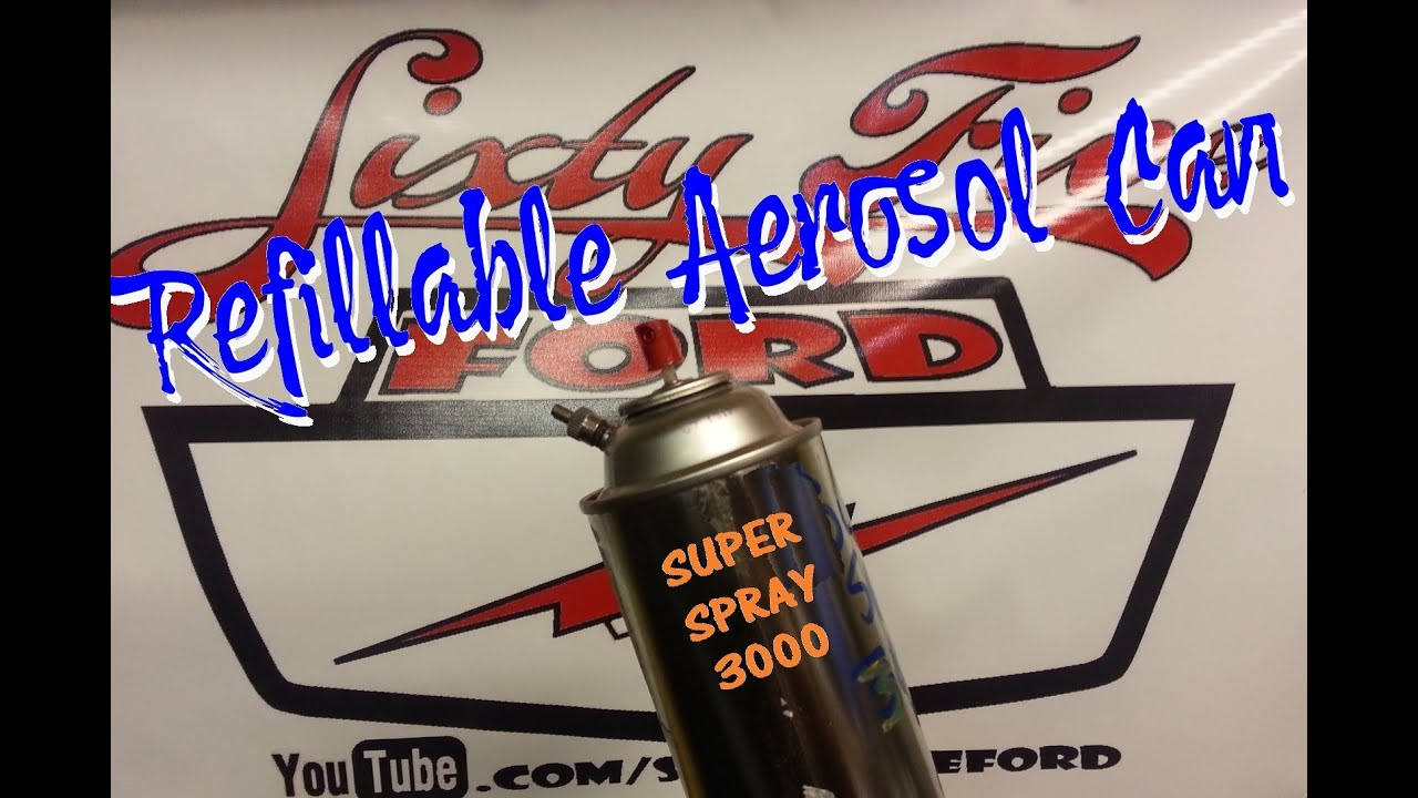 make a refillable aerosol spray paint can youtube. Black Bedroom Furniture Sets. Home Design Ideas