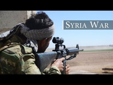 Syria War 2016 - FSA in Heavy Intense Firefights Against ISIS in Aleppo Governorate