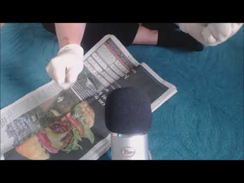 ASMR Newspaper Sounds with Latex Gloves