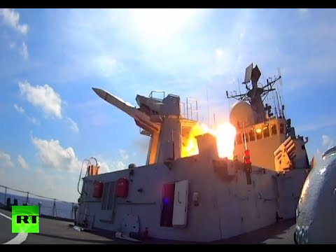 RAW: Chinese navy holds massive combat drills in disputed South China Sea