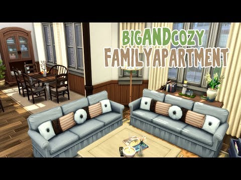 Big And Cozy Family Apartment || The Sims 4 Apartment Renovation: Speed Build