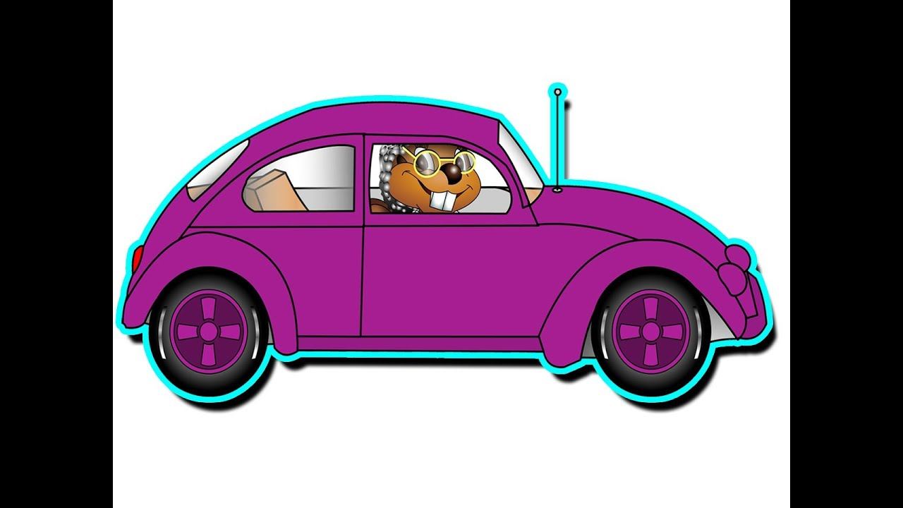 grandmas got a little purple car kids learn colors funny song teach children colours