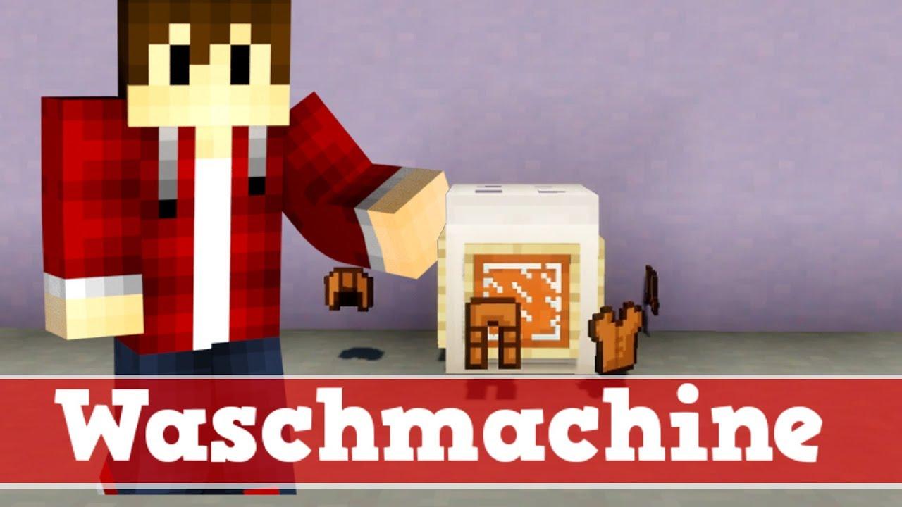 minecraft wie baut man eine funktionierende waschmachine minecraft waschmachine bauen deutsch. Black Bedroom Furniture Sets. Home Design Ideas