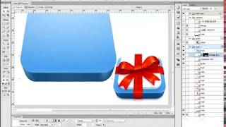 How to draw a gift icon in Adobe Fireworks