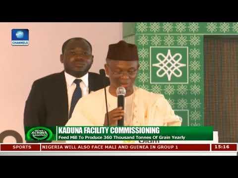 Buhari Visits Kaduna, Inaugurates $150m Feed Mill  News Across Nigeria 