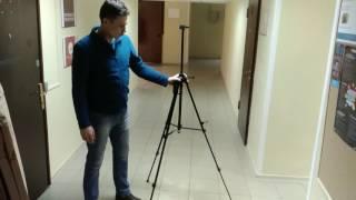 видео Мольберт-тренога, сосна, 60х75х160см., мак. высота полотна 150см., Rosa Talent (4820149893044)