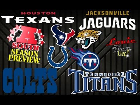 2016 NFL Season: AFC South Season Preview & Predictions #LouieTeeLive