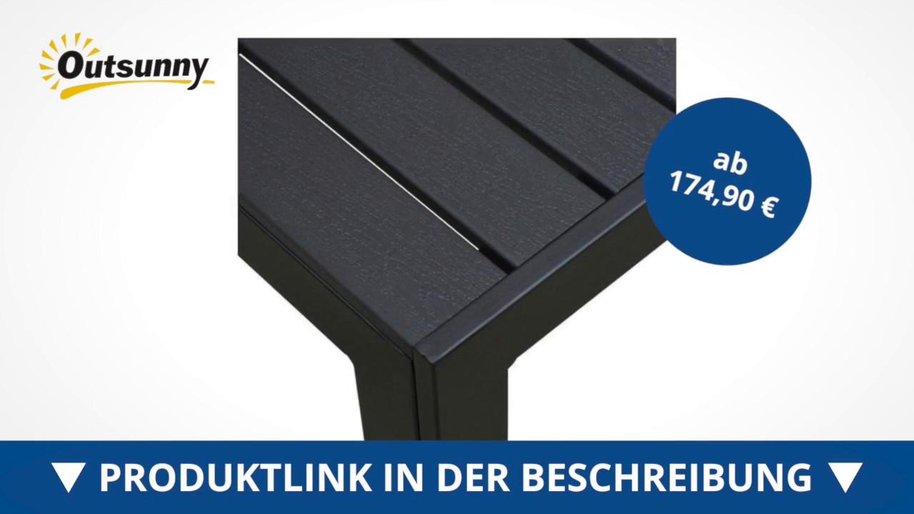 Outsunny Gartentisch Aluminium Tisch Beitelltisch Wpc Non Wood