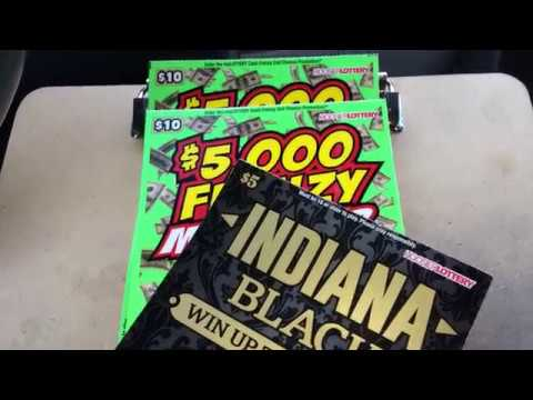 $5 Indiana Black for Scratching Kentucky and 2 $10 Frenzy Hoosier Lottery Scratch-Off's
