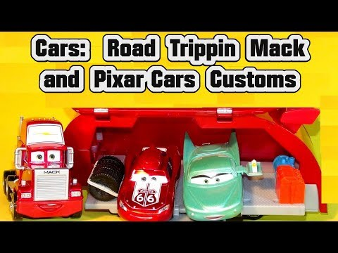 Pixar Cars 3 Custom Diecasts And Unboxing Road Trip Lightning McQueen, And Road Trippin Mack