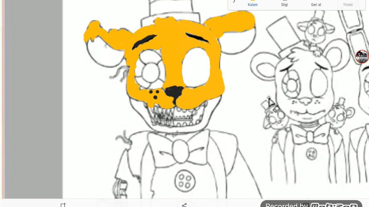 Fnaf Boyama Part 1 Nightmare Fredbear Youtube