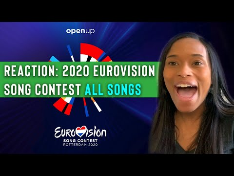 REACTION: 2020 Eurovision Song Contest ALL SONGS [Alesia Michelle]