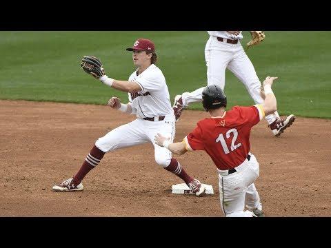 HIGHLIGHTS: Baseball vs. VMI — 2/17/18