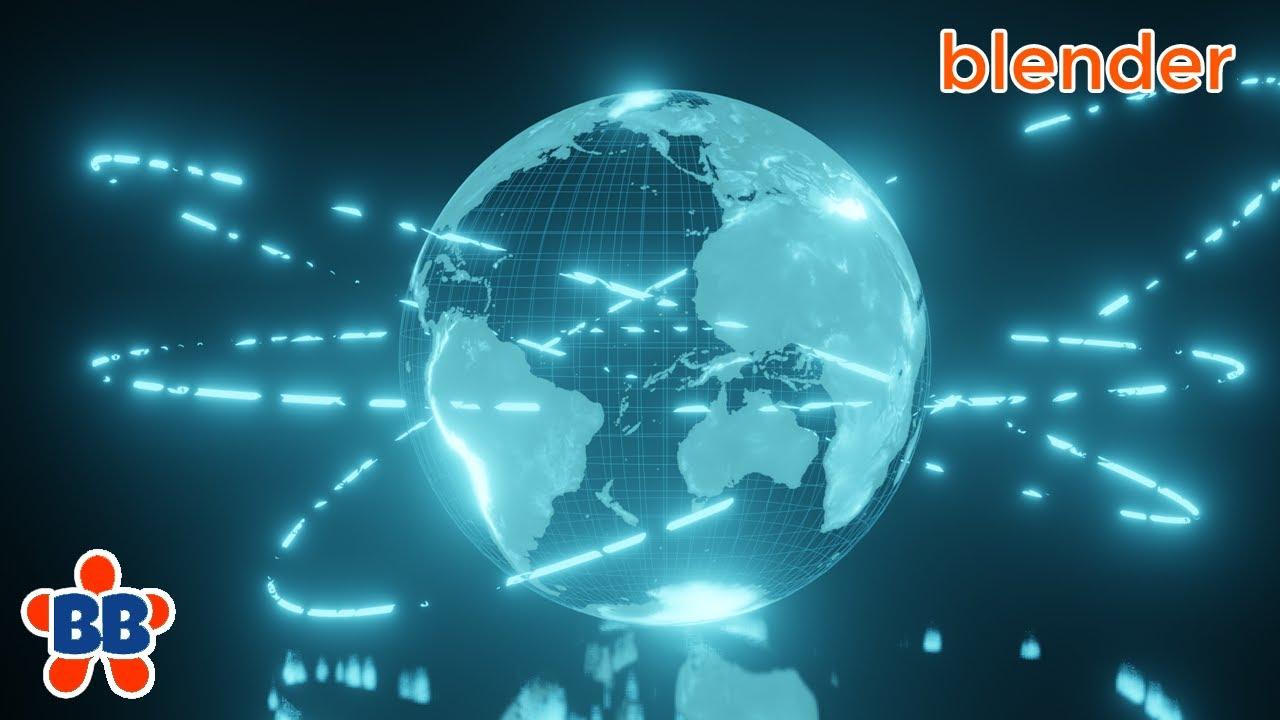 Blender -Simple Holographic Earth in EEVEE  [Blender 2.8]
