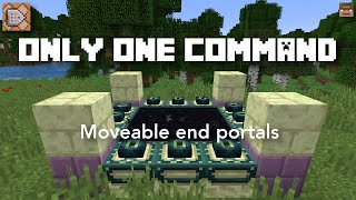 Minecraft end portal block command