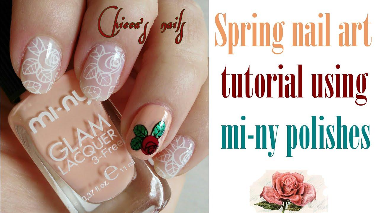 Spring Nail Art Tutorial Using Mi Ny Nail Polishes Youtube