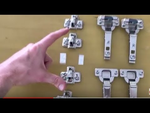 How to install IKEA cabinet/Door Hinges - PART 1 - FAST & EASY!