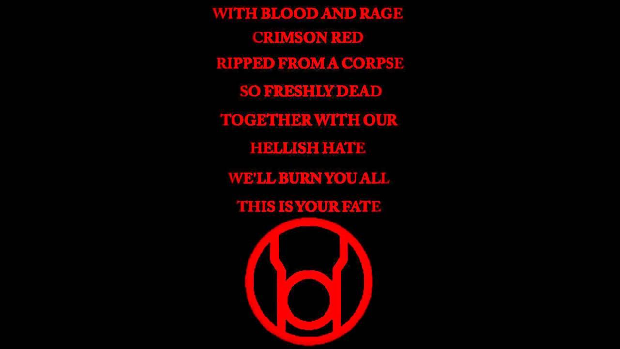 RED LANTERN OATH - YouTube Red Lantern Ring Oath